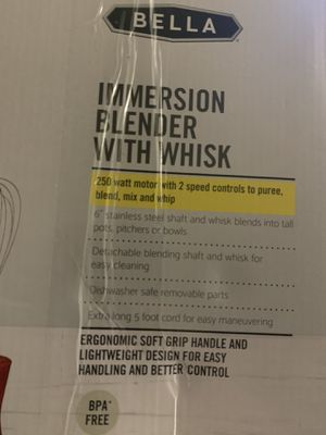 Bella Immersion Blender and whisk for Sale in Gahanna, OH