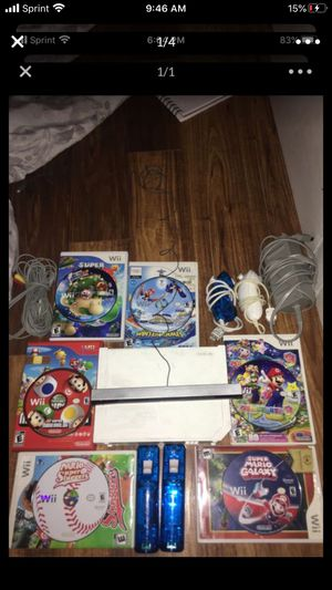 Wii comes with 6 games! All wires and 2 controllers (with nunchucks) for Sale in Alexandria, VA