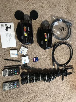 2 HD Cameras with bundle for Sale in Manassas, VA
