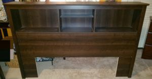 Headboard With Storage Shelves. Like New! Fits Full/Queen beds for Sale in Riverside, CA