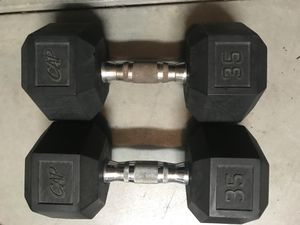 35lb rubber hex dumbbells for Sale in Santa Clarita, CA