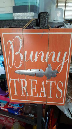 Hanging bunny sign for Sale in Allen Park, MI