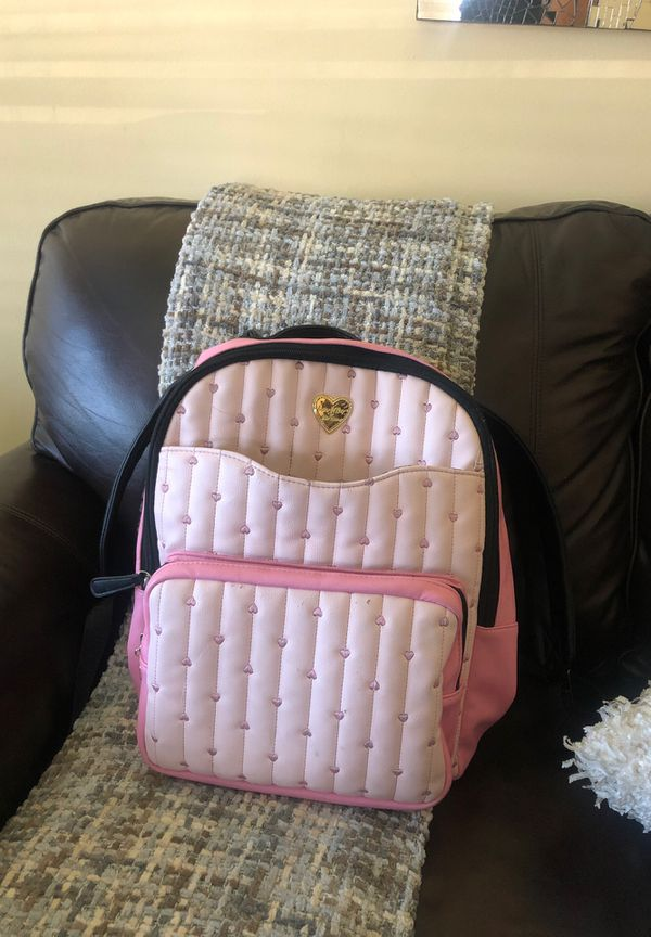 Pink Betsy Johnson Backpack