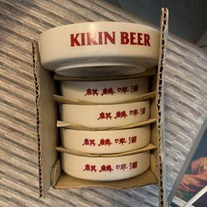 Kirin Beer Set Of 5 Ash Trays In Box for Sale in Fresno, CA