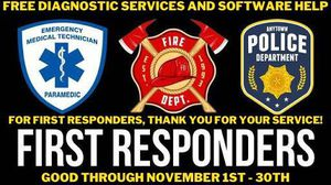 Free Diagnostics and Software Help for First Responders 1st - 30th! for Sale in Visalia, CA