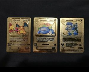 Base Set Pokemon Custom Gold Cards for Sale in West Palm Beach, FL