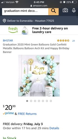 Mint Green Balloons Gold Confetti Metallic Balloons Balloon Arch Kit and Happy Birthday Banner for Sale in Houston, TX