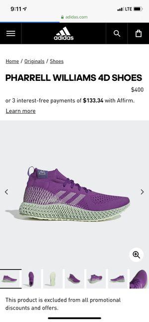 Adidas Pharrell Williams 4D for Sale in Bellflower, CA