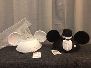 Bride and Groom Mickey ears - brand new for Sale in Pompano Beach, FL
