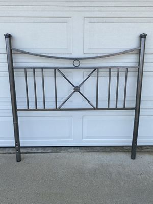 Full size silver head board with side rails. for Sale in Upland, CA