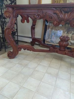 Antique hand carved wood table for Sale in Weehawken, NJ