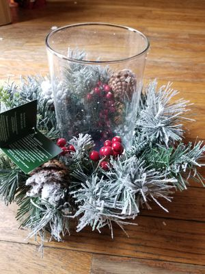 St. Nicholas Square Artificial Pine Hurricane Candle Holder for Sale in Mineral Wells, WV