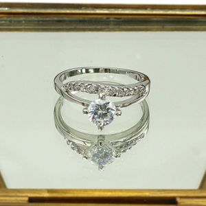 Lady crystal silver ring for Sale in Redwood City, CA