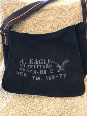 American Eagle Distressed Black Canvas Messenger Bag for Sale in Ashburn, VA