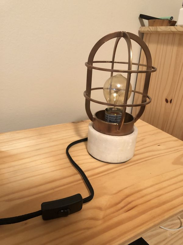 West Elm Mini Industrial Cage Lamp For Sale In Seattle Wa