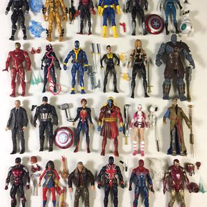 Marvel Legends Action Figures Spiderman Jean Grey Miles Captain America Deadpool for Sale in Melrose Park, IL