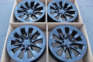 """19"""" oem Tesla Model S factory wheels 19 inch semi gloss satin black rims Tesla model s for Sale in Santa Ana, CA"""