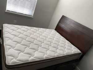 Queen Size Bed, mattress, bed frame for Sale in Westminster, MD