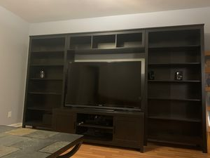 Espresso TV storage /Entertainment combination Solid Wood for Sale in West Palm Beach, FL