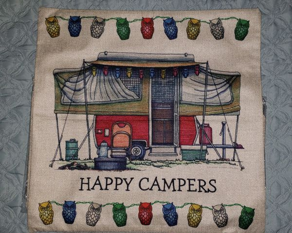 Pop-up camper pillow cover
