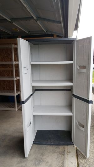 Garage storage cabinet and shelves for Sale in BETHEL, WA