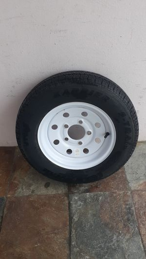 """ST145R12 TRAILER TIRE & WHEEL 5 lug """"LIKE NEW"""" NO OFFERS, PRICE IS FIRM for Sale in North Miami, FL"""