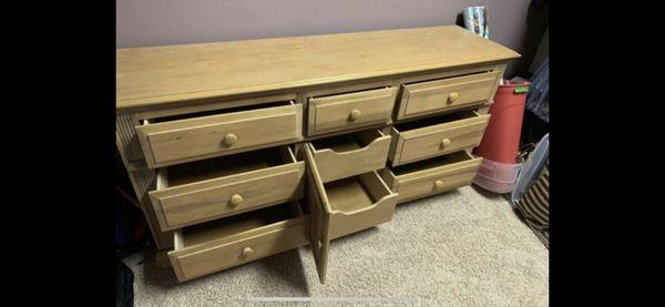 9 drawer dresser- solid wood