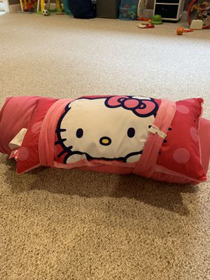Hello kitty sleeping bag and pillow for Sale in Freehold, NJ