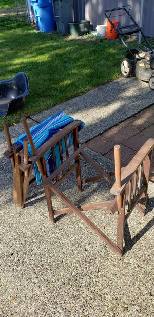 Wooden folding chairs for Sale in Vancouver, WA
