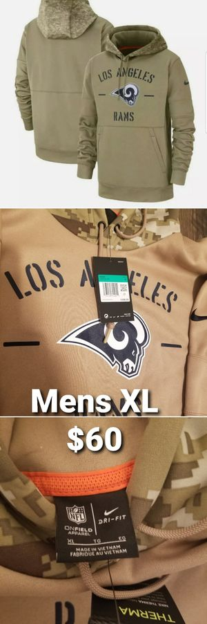 Nike Los Angeles Rams Salute To Service Sideline Hoodie Size XL AT6746 297 for Sale in Pomona, CA