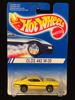 Vintage Hot Wheels '93 Warner • Olds 442 W-30 • Yellow 7SPs for Sale in Fort Worth, TX