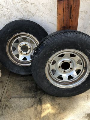 Trailer rims tires for Sale in Rancho Cucamonga, CA