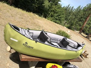 Stearns Outdoors Spree 2 Person Inflatable Kayak/Canoe IK-140 for Sale in Lynnwood, WA