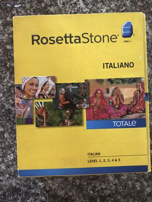 Rosetta Stone Italian Levels 1-5 for Sale in Sherwood, OR