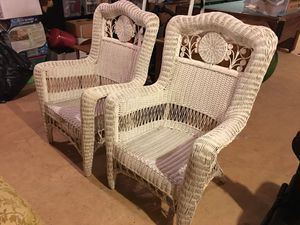 Wicker matching chairs. Beautiful for Sale in Haymarket, VA