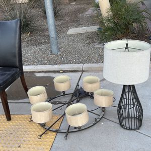 Free - Chandelier And Dining Chair for Sale in Maricopa, AZ