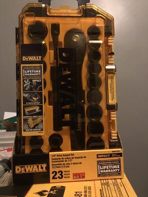 Dewalt 1/2inch impact set for Sale in Lancaster, PA