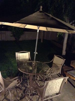 6 piece metal patio furniture ALMOST NEW condition for Sale in Vista, CA
