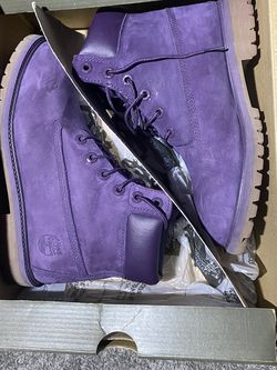 6in Premium Timberland Purple Boots for Sale in Chicago,  IL