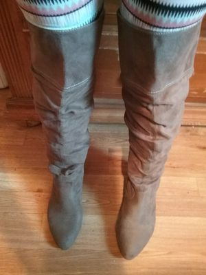 Gray thigh high boots for Sale in Riverview, FL