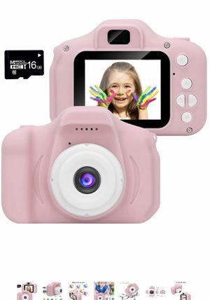 WUBUMIM Kids Digital Video Camera for Girls Age 3-8 , Mini Rechargeable Children Camera Shockproof 8MP HD Toddler Cameras Child Camcorder (16GB Memor for Sale in Maryland Heights, MO
