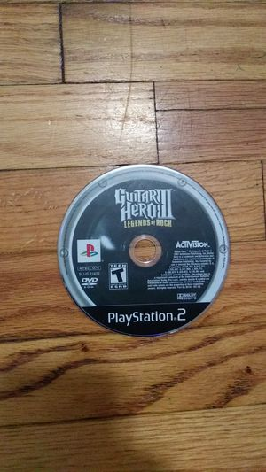 Guitar Hero 3 PS2 game CD for Sale in Linden, NJ