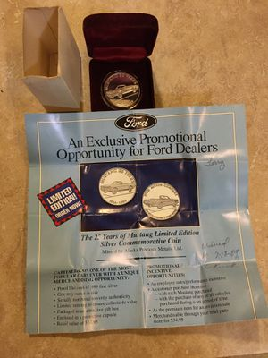 25 years of mustang limited edition silver coin for Sale in Cranesville, PA