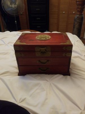 Used, Antique Japanese wooden jewelry box. for Sale for sale  Queens, NY