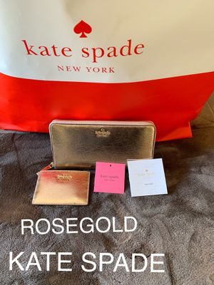 CARTERA GRANDE KATE SPADE ♠️ $120 Dlls ROSEGOLD NUEVA ORIGINAL for Sale in Fontana, CA