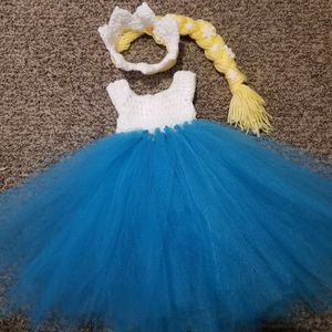 0-3 months crochet tulle Elsa baby set for Sale in Parma, OH