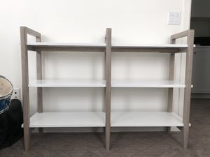 Crate and Barrel grey and white bookcase for Sale in Mission Viejo, CA