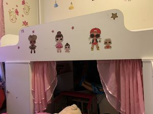 Girls loft bed with storage for Sale in Warwick, RI