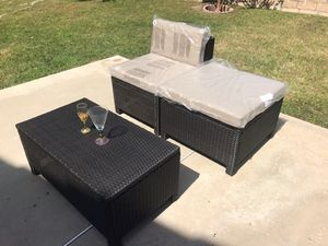 Patio Quality Wicker Lounge or Can be 2 Chairs & Table Brand New for Sale in Walnut, CA