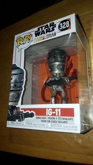 STAR WARS THE MANDALORIAN FUNKO POP IG-11 #328 for Sale in Montebello, CA